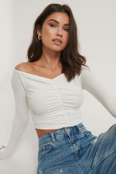 Na-kd Off Shoulder Top - Offwhite