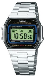 Casio Casio Collection Herreur A164wa-1ves Stål 36.8x35 Mm