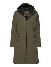 Long Raincoat Regntøj Grøn Ilse Jacobsen