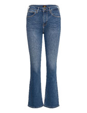 Breese Boot Jeans Boot Cut Blå Lee Jeans