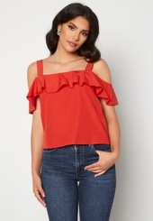 Trendyol Flounce Blouse Red 34