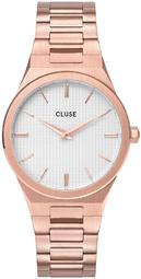 Cluse 99999 Dameur Cw0101210001 Hvid/rosaguldtonet Stål Ø33 Mm