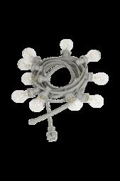 Lyskæde Bright Light String Med Klare Pærer, 7 M Grå