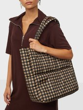 Pieces Pcfulla Padded Shopper Bc Skuldertasker Iced Coffee Black/iced Coffee