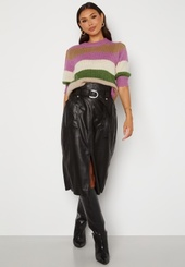 Only Alba Faux Leather Long Skirt Black Xs