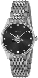 Gucci G-timeless Dameur Ya1264154 Sort/stål Ø36 Mm