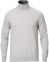 Samsøe & Samsøe Flemming Superfine Merino Wool Roll Neck Grey Mel