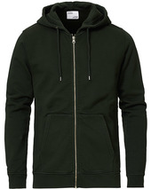 Colorful Standard Classic Organic Full Zip Hood Hunter Green