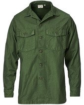 Orslow Cotton Sateen Us Army Overshirt Army Green
