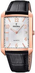 Festina Classic Herreur F20465-1 Sølvfarvet/læder