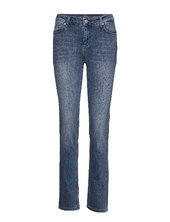 33 The Celina High Straight Custom Lige Jeans Blå Denim Hunter