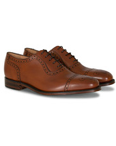 Loake 1880 Strand Brogue Mahogany Burnished Calf