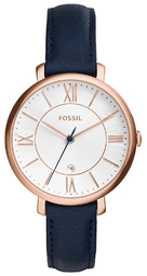 Fossil Dress Dameur Es3843 Sølvfarvet/læder Ø36 Mm