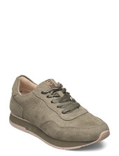 Woms Lace-up Low-top Sneakers Grøn Tamaris