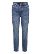 Vmbrenda Hr Straight A Cut Gu385 Lige Jeans Blå Vero Moda