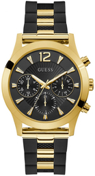 Guess 99999 Dameur W1294l1 Sort/gul Guldtonet Stål Ø42 Mm