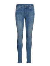 Celina Long Custom Skinny Jeans Blå Denim Hunter