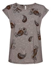 Sc-galina T-shirt Top Brun Soyaconcept