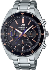 Casio Edifice Herreur Efv-590d-1avuef Sort/stål Ø44 Mm