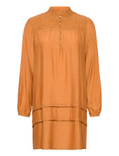 Signecr Mini Dress Kort Kjole Orange Cream