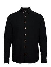 Dean Diego Cotton Shirt Skjorte Casual Sort Kronstadt