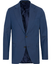 Oscar Jacobson Fogerty Wool Blazer Blue