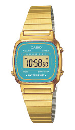 Casio Collection Dameur La670wega-2ef Gul Guldtonet Stål 30.3x24.6 Mm
