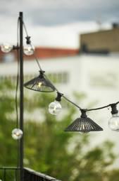 Lampeskærm Vide 38 Cm Black Mdf/metal