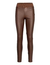 Sc-pam Leather Leggings/bukser Brun Soyaconcept