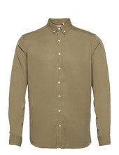 Johan Tencel Shirt Skjorte Casual Grøn Kronstadt