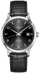 Longines Record Herreur L2.821.4.56.2 Sort/læder Ø40 Mm