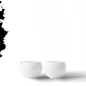 Rhombe Lysestage Ø6,5 Cm Hvidt Porcelæn 2