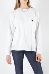 W' L/s Pocket T-shirt - White - Carhartt - Hvid S