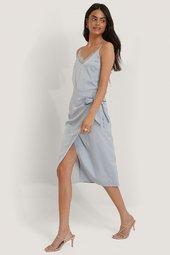 Na-kd Trend Slå-om-nederdel - Blue