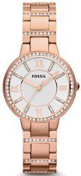 Fossil Virginia Dameur Es3284 Sølvfarvet/rosaguldtonet Stål Ø30 Mm