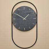 A Wall Clock Vægur - Sort Egetræ