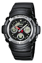Casio G-shock Herreur Aw-590-1aer Sort/resinplast Ø46.4 Mm