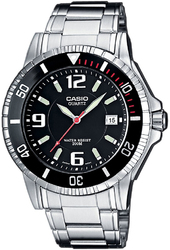 Casio 99999 Herreur Mtd-1053d-1a Sort/stål Ø43 Mm