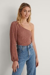 Na-kd One Shoulder Top - Pink