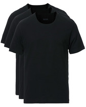 Boss 3-pack Crew Neck T-shirt Black