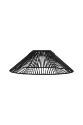 Lampeskærm Vide 58 Cm Black Mdf/metal