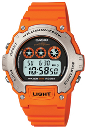 Casio Casio Collection Herreur W-214h-4avef Lcd/resinplast Ø45 Mm