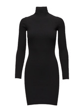 Viscose Rib Dress Kort Kjole Sort Wolford