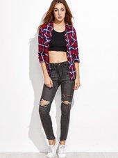 Sort Jeans