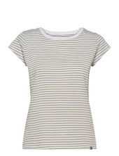 Organic Favorite Stripe Teasy T-shirt Top Grøn Mads Nørgaard