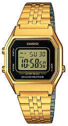 Casio Collection Dameur La680wega Lcd/gul Guldtonet Stål