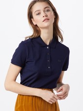 Lacoste Shirts 'chemise Col Bord-cotes Ma'  Marin