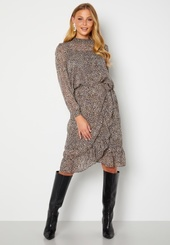 Only Star Fake Wrap Skirt Taupe Gray Aop Leo M