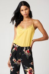 Rut&circle Stine Lace Singlet - Yellow
