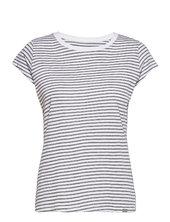 Organic Favorite Stripe Teasy T-shirt Top Grå Mads Nørgaard